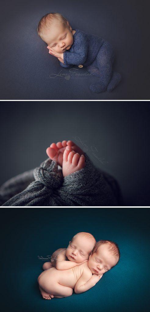 Modellbabyene ble fotografert både i helfigur og så tett som detaljebilder.