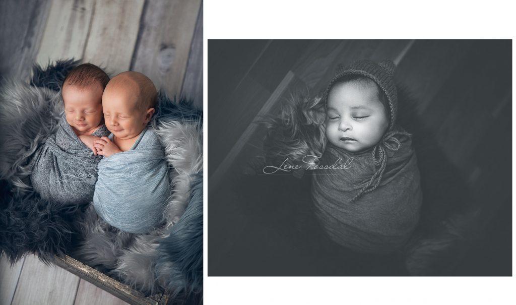 Det ble både tvillinger, gutter og jenter. Alle modellbabyene hjalp meg veldig med den øvingen jeg trengte.