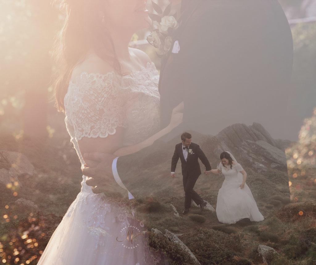 Et av fjorårets bryllupsbilder. Anne og Christian, det første paret ut i 2019.