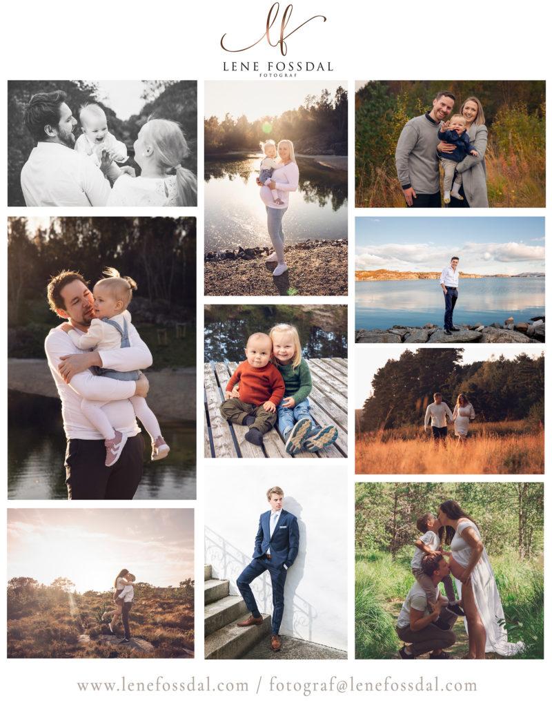 Ting å finne på kan være utefotografering, nå når de fleste i husstanden er samlet hjemme. Her er bilder av mange forskjellige kunder, bilder tatt ute.