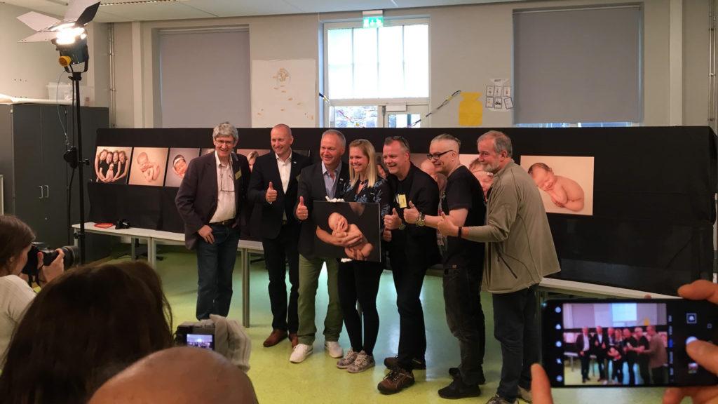 Bilde av Lene Fossdal med alle dommerene under QEP 2019.